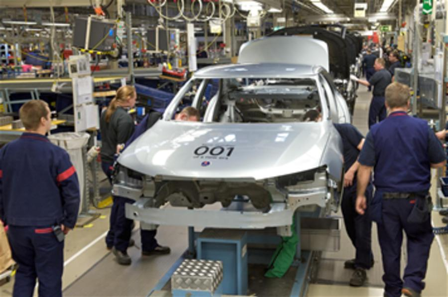 Saab production won't restart
