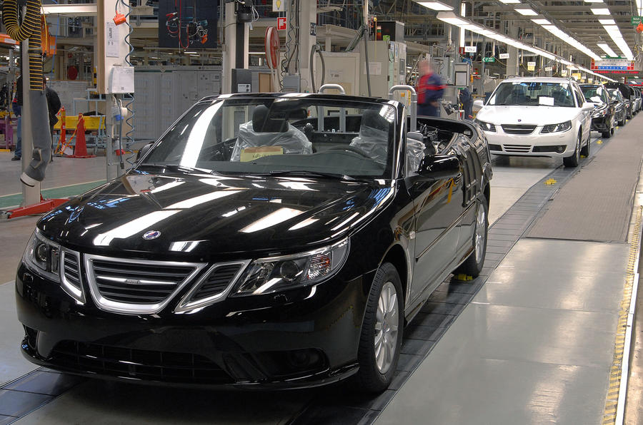 First Swedish Saab cabrio built
