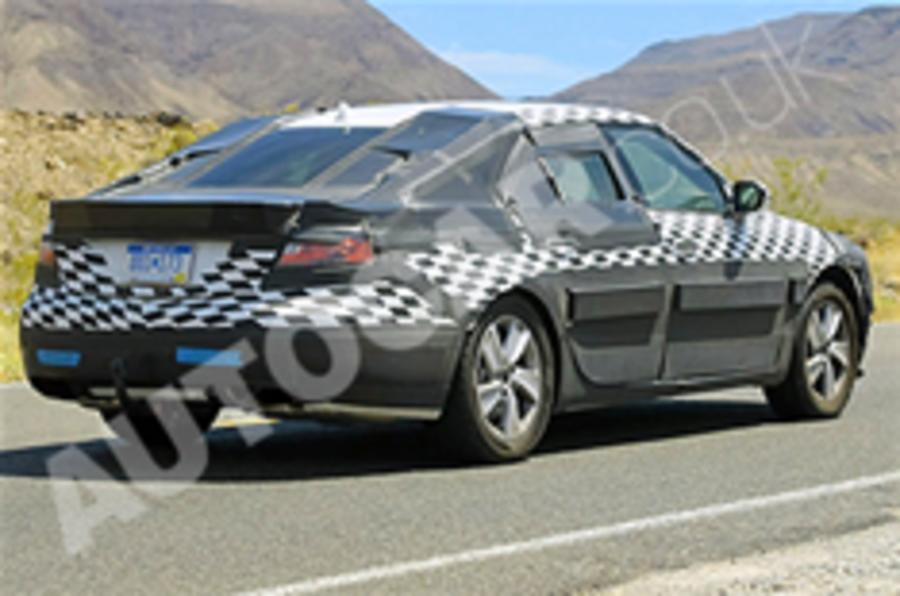 New Saab 9-5 spied testing