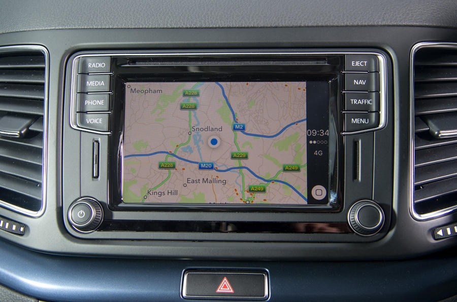 Seat Alhambra infotainment system
