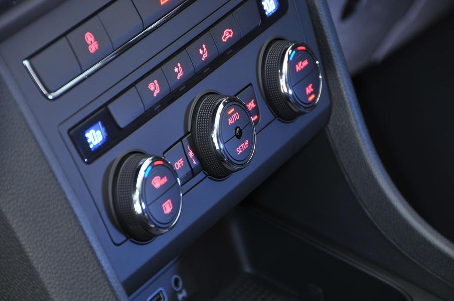 Seat Ateca climate controls