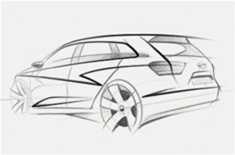 Sketch reveals Seat Ibiza estate
