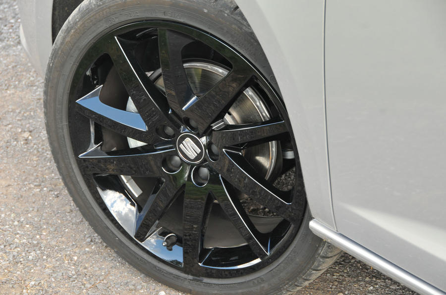 Seat Ibiza black alloy wheels