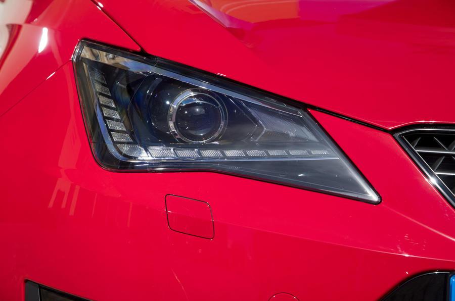 Seat Ibiza Cupra headlights