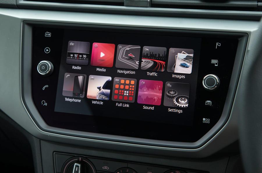 Seat Ibiza infotainment system