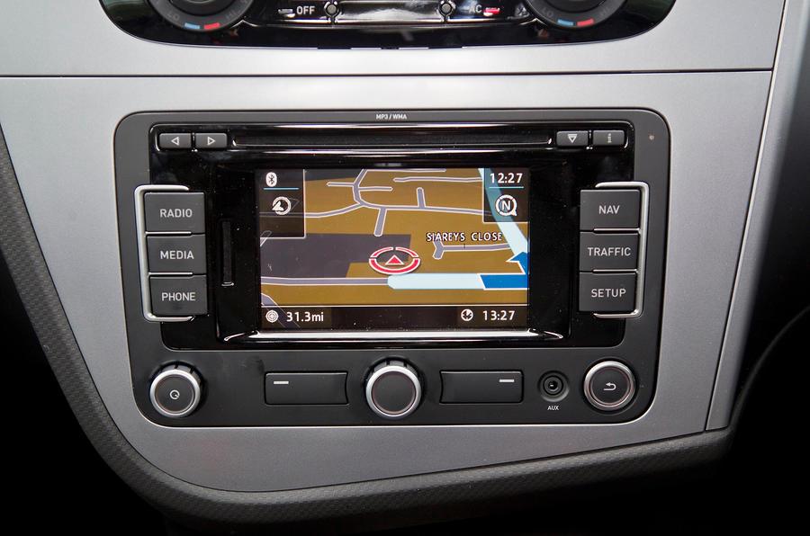 Seat Leon infotainment system