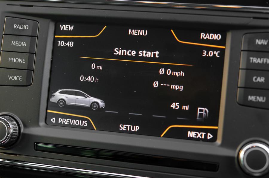 Seat Leon ST infotainment system