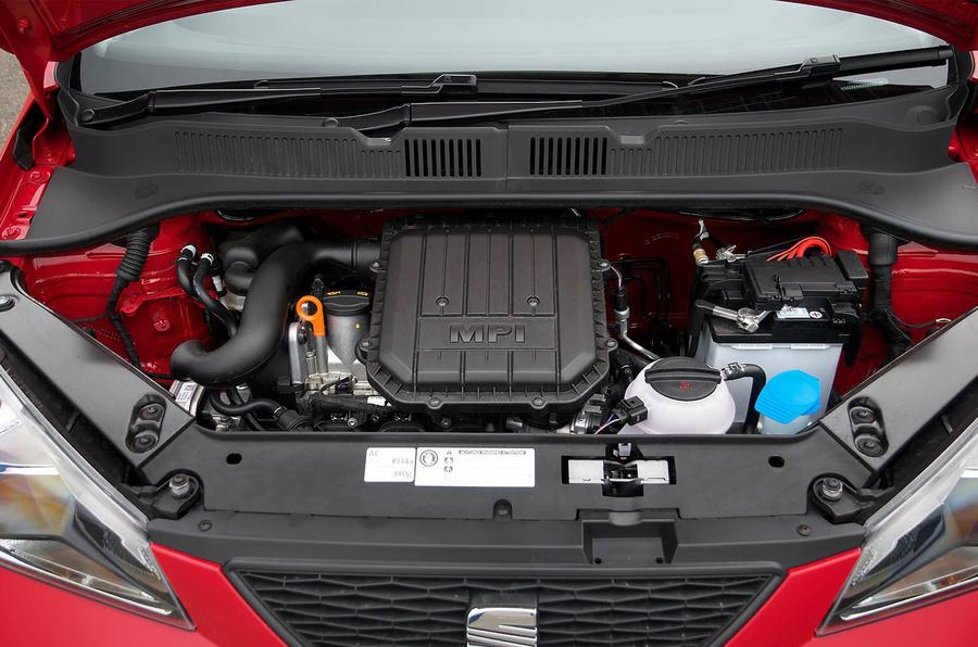 Three-cylinder Seat Mii engine