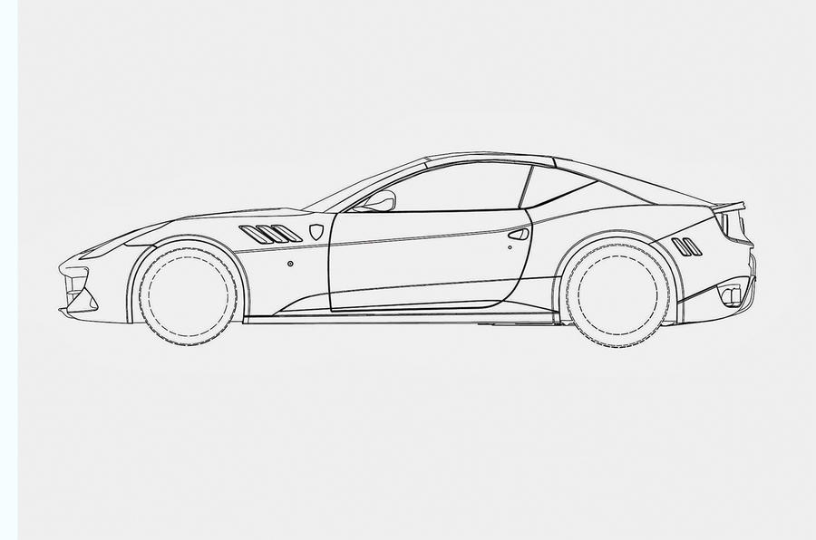 New front,engined Ferrari revealed in patents