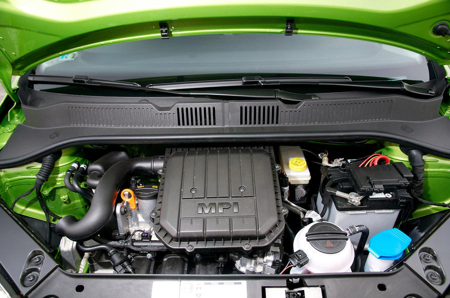 Three-cylinder Skoda Citigo engine
