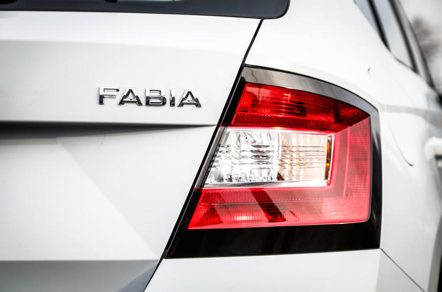 Skoda Fabia rear lights