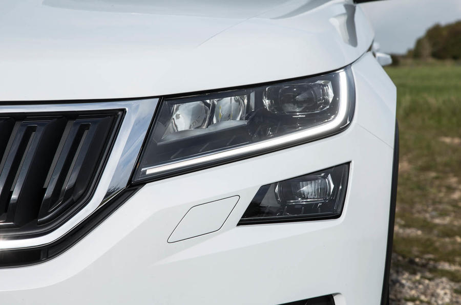 Skoda Kodiaq LED headlights