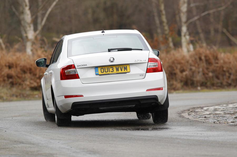 Skoda Octavia rear cornering