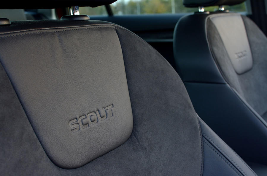 Skoda Octavia Scout engraved seats