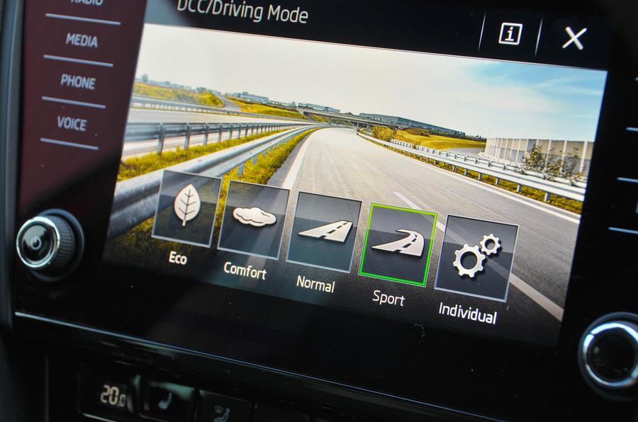 Skoda Octavia vRS 245 driving modes