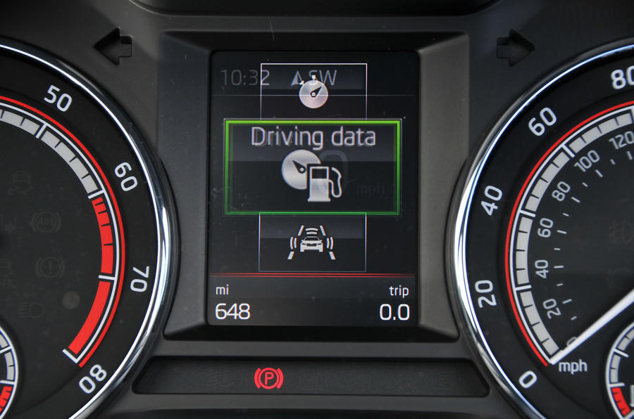 Skoda Octavia vRS 245 information display