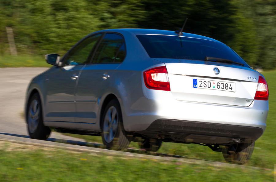 Skoda Rapid rear cornering