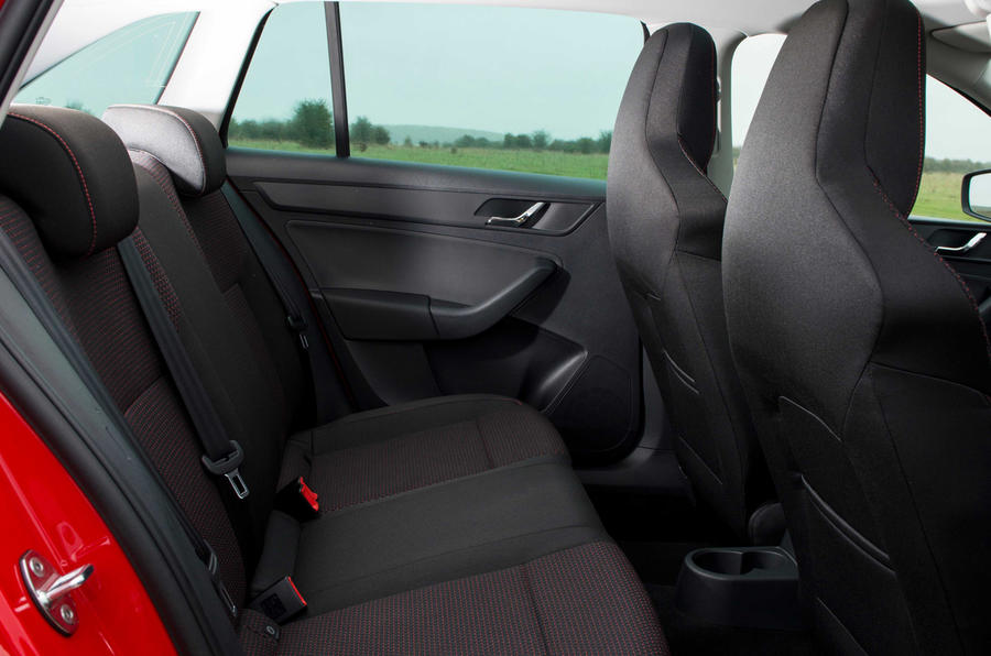 Skoda Rapid Spaceback rear seats