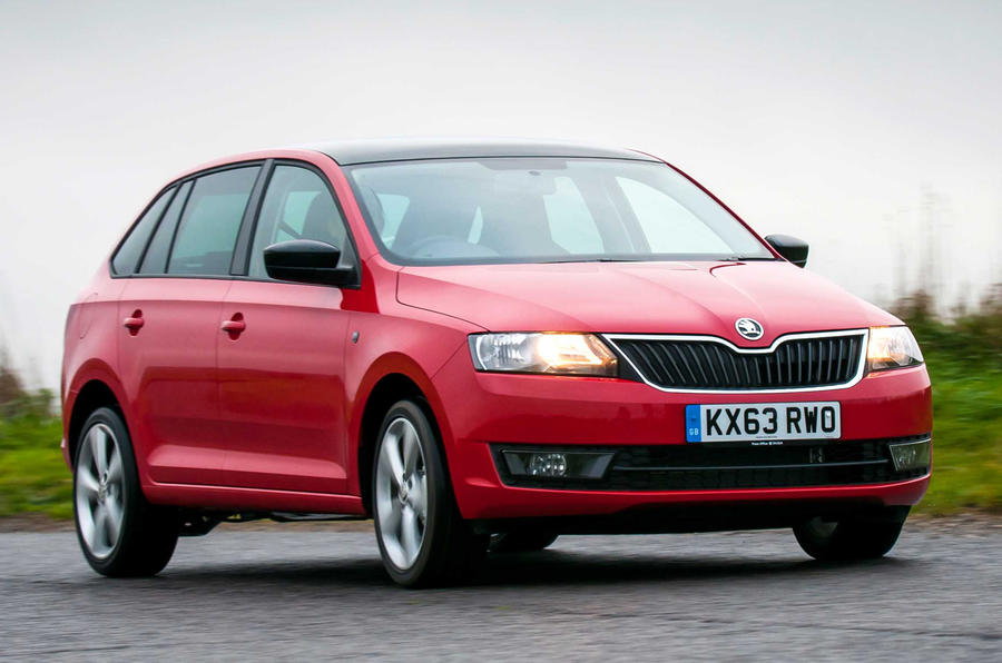 Skoda Rapid Spaceback front end