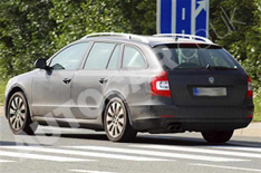 Skoda Superb estate spotted