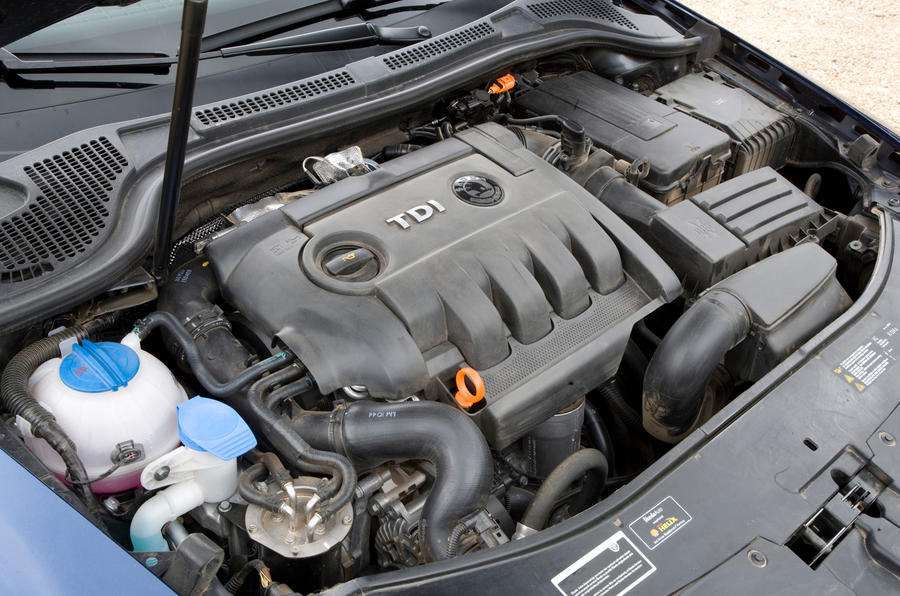 Skoda Superb diesel engine