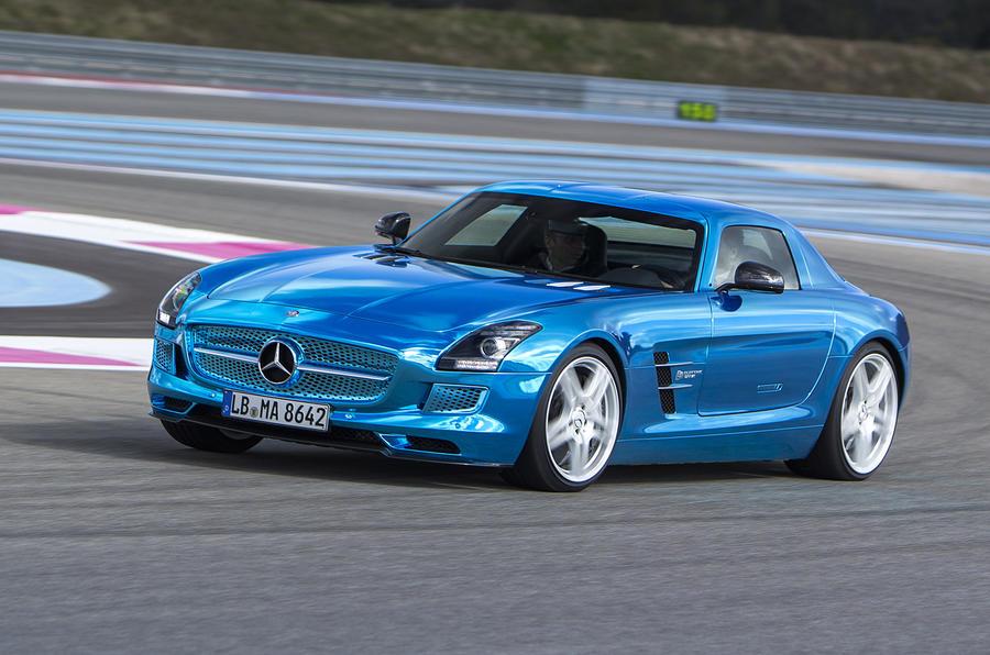 Mercedes-AMG SLS Electric Drive cornering