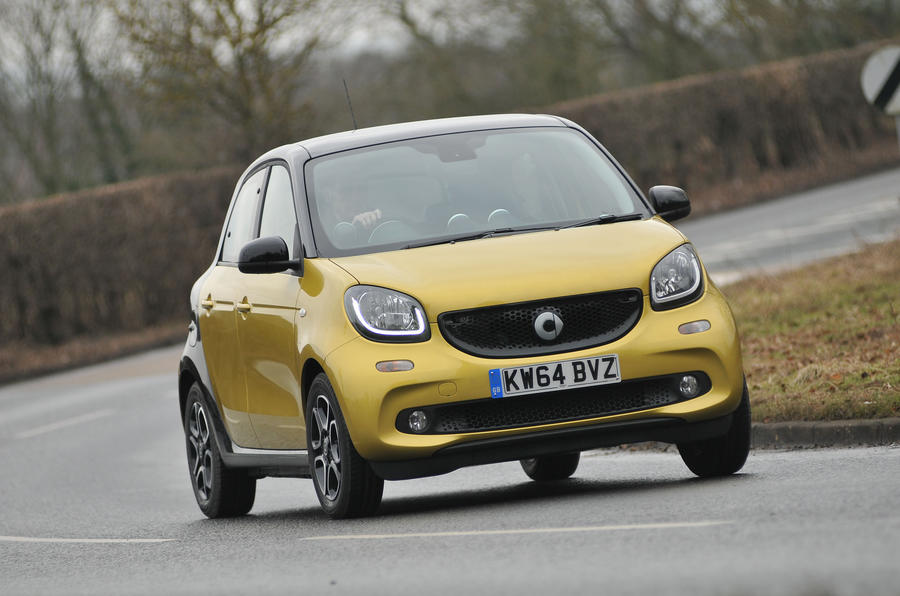 Smart Forfour cornering