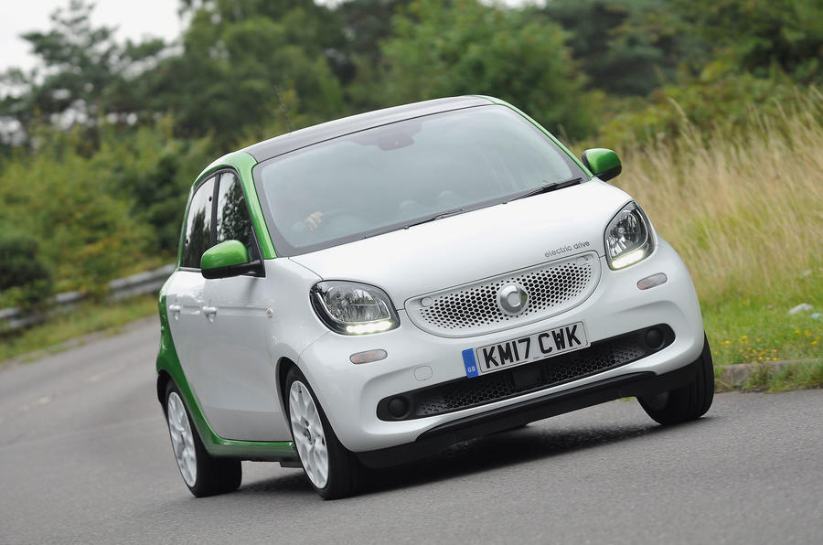 Smart Forfour Electric Drive cornering