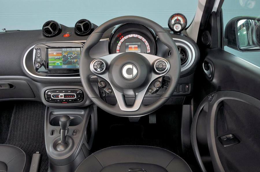 Smart Forfour Electric Drive dashboard