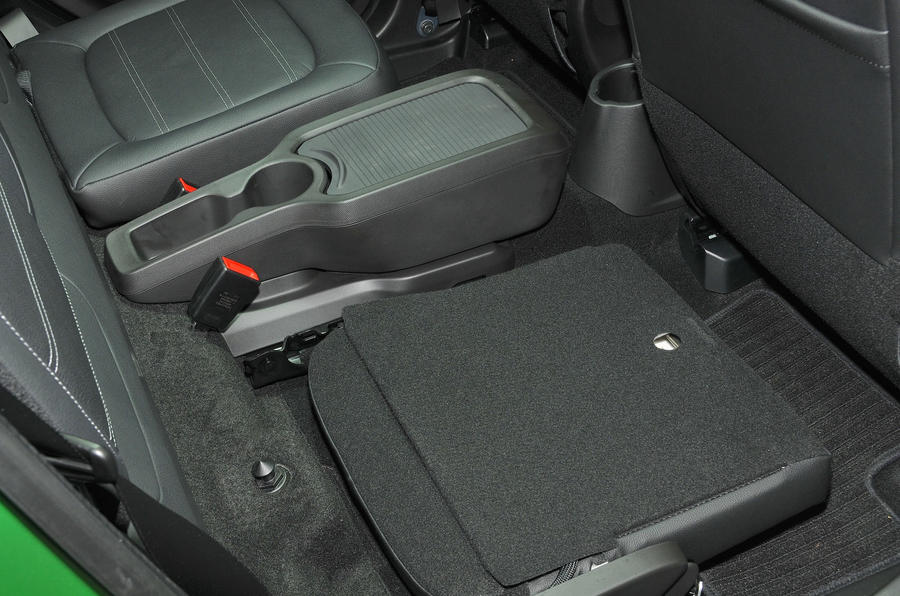 Smart Forfour Electric Drive folded rear seats