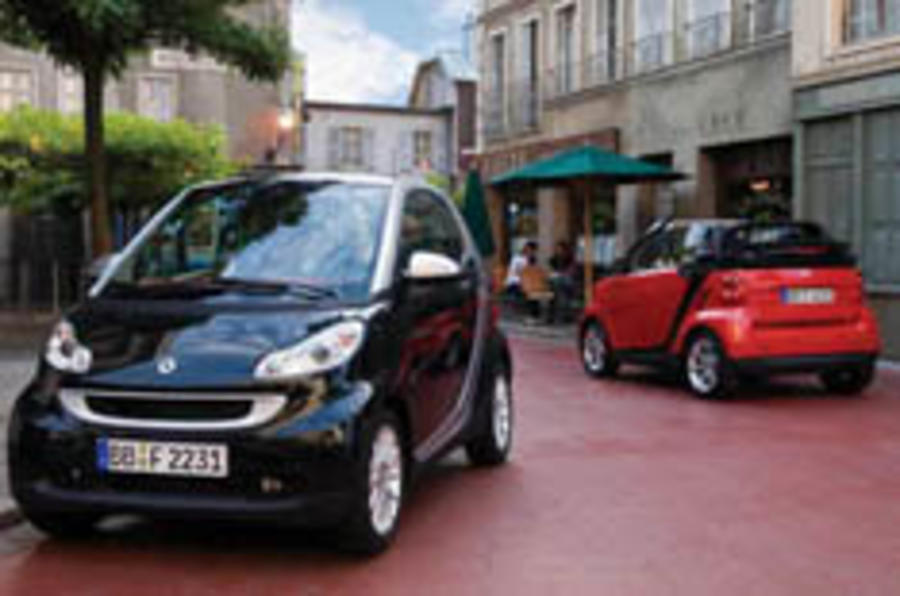 Smart's ForTwo grows up a little