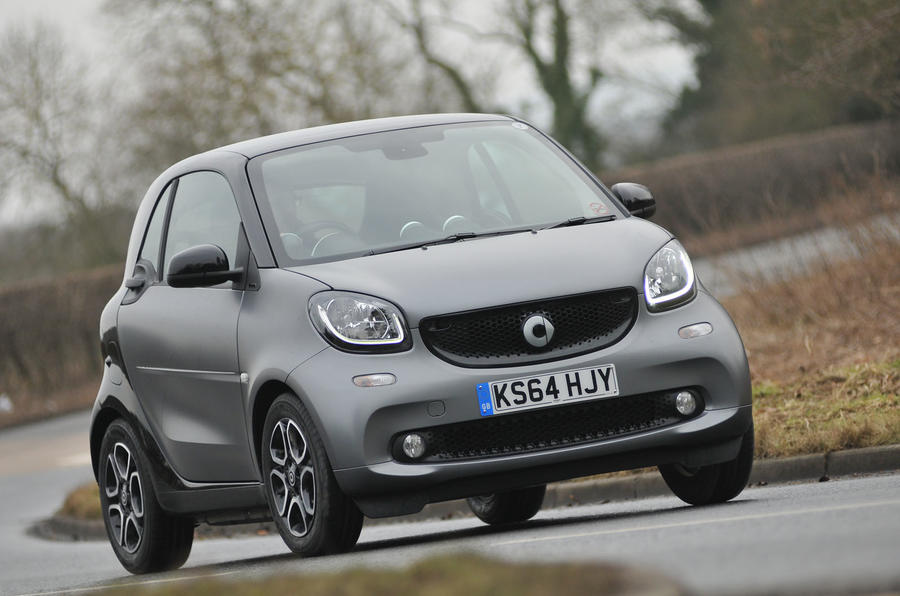 The Smart Fortwo in full flow