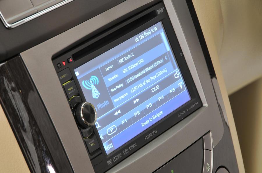 Ssangyong Rexton infotainment system