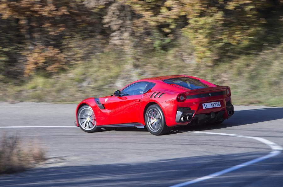 Ferrari F12tdf hard rear cornering