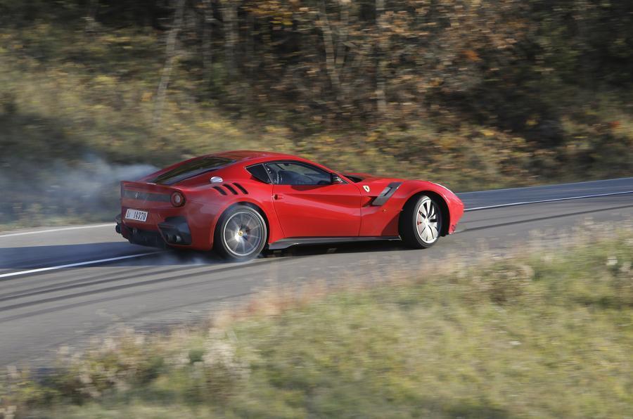 Ferrari F12tdf drifting
