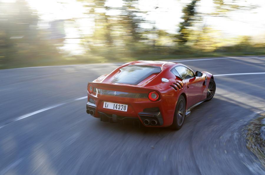 Ferrari F12tdf rear cornering