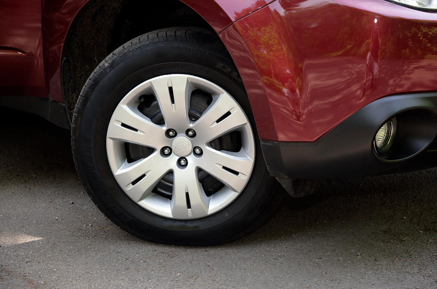 Subaru Forester plastic hub caps