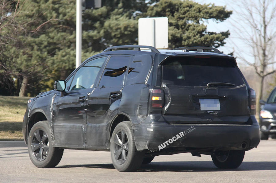 Subaru Forester prototype scooped