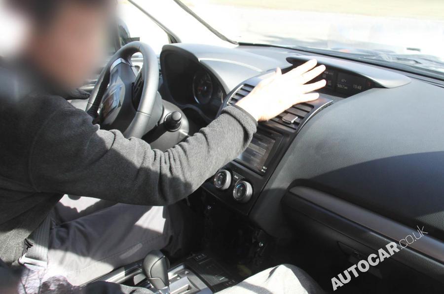Subaru Forester prototype scooped