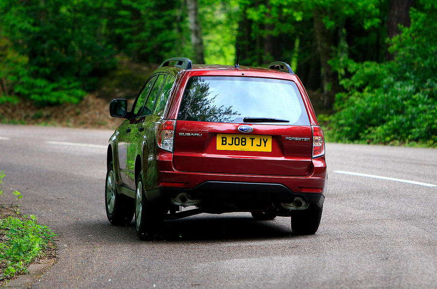 Subaru Forester rear cornering