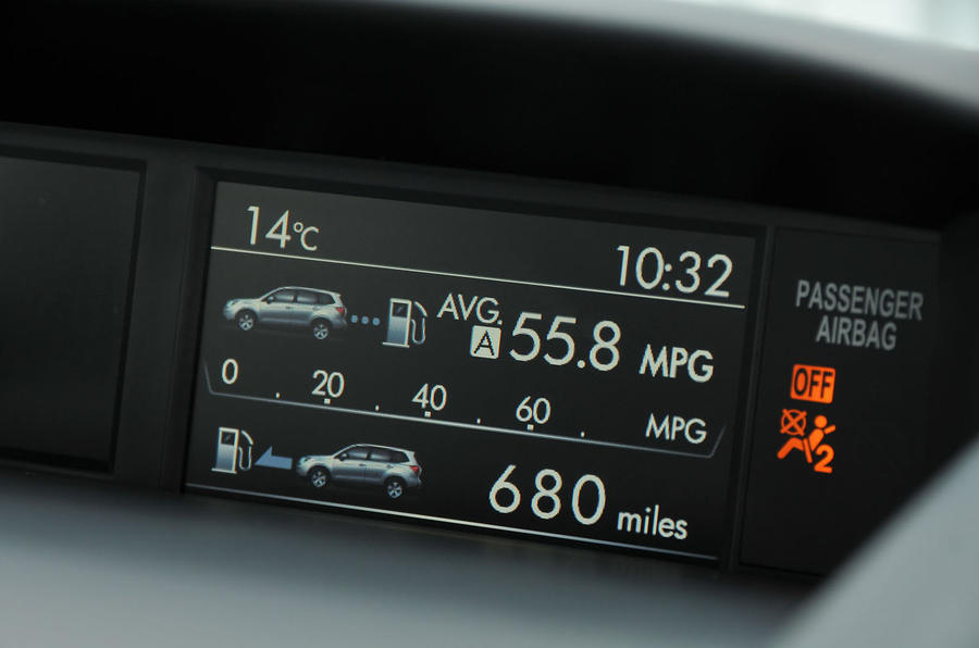 Subaru Forester information display