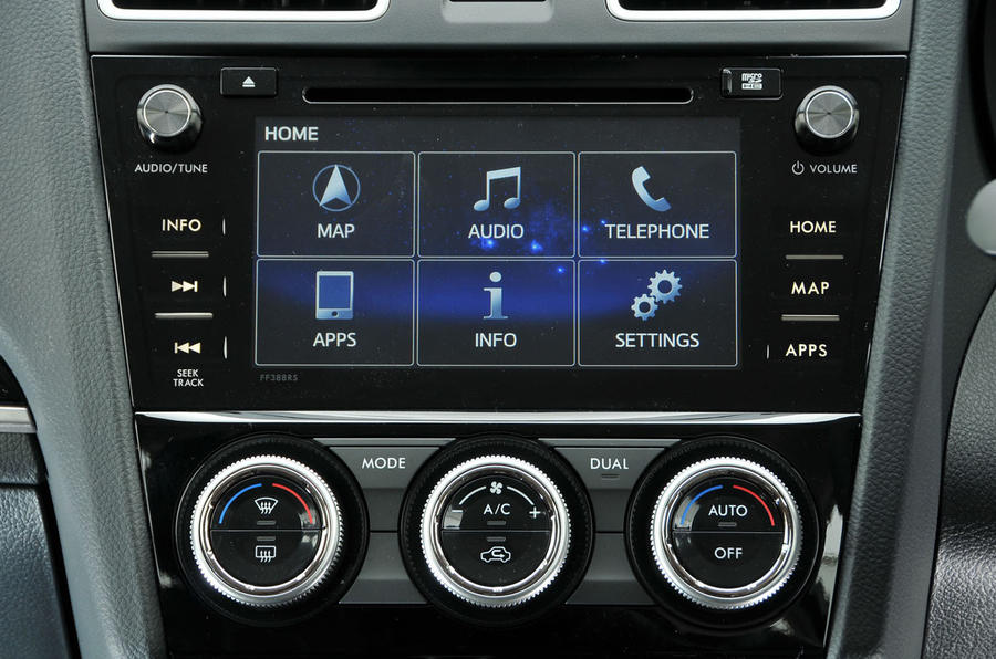 Subaru Forester infotainment system