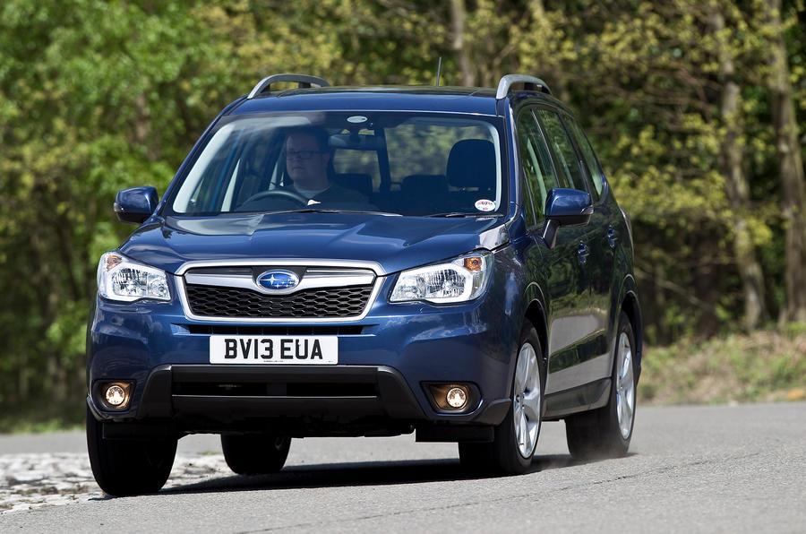 Subaru Forester cornering