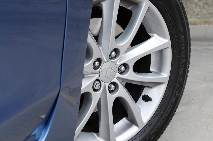 16-in Subaru Impreza alloy wheels