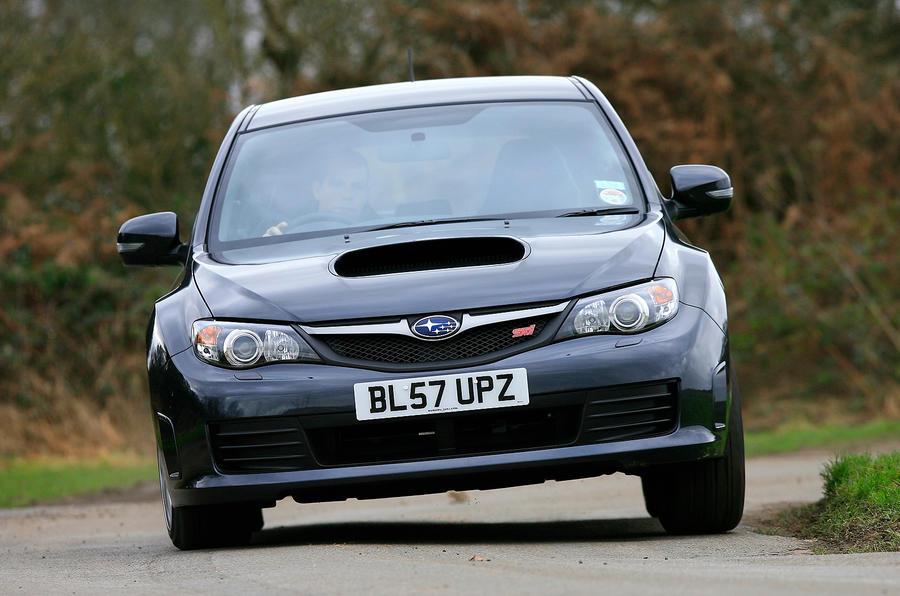 Subaru Impreza WRX STI cornering