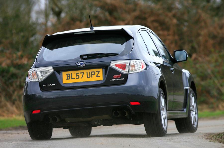 Impreza WRX STI rear cornering