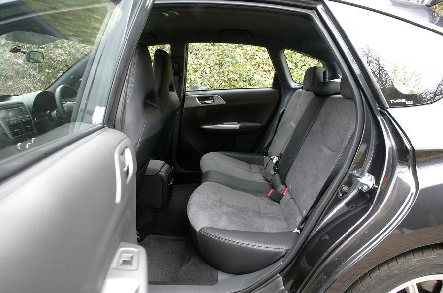 Subaru Impreza WRX STI rear seats