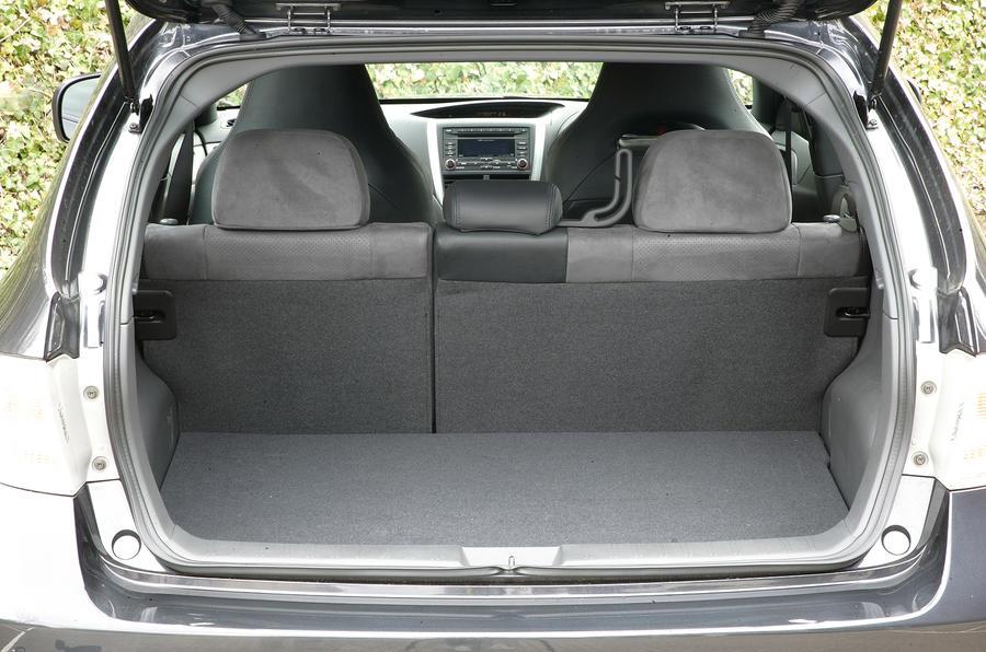 Subaru WRX STI boot space