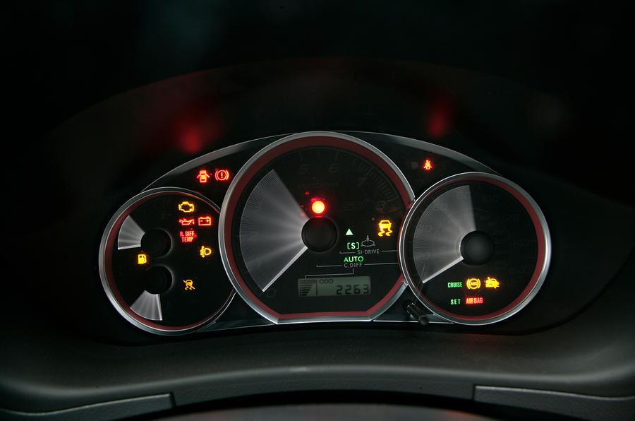 Subaru WRX STI instrument cluster