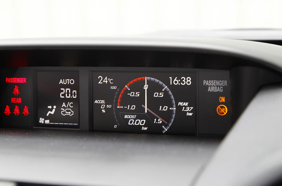 Subaru Impreza WRX STI information display